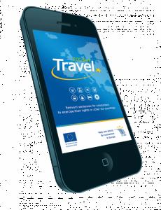 Aplikace ECC-Net: Travel - titulní strana